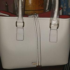 Aldo Frenarein White Handbag